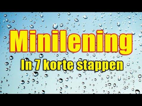 Minilening - 7 korte stappen voor aanvragen.
