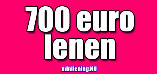 700 euro lenen