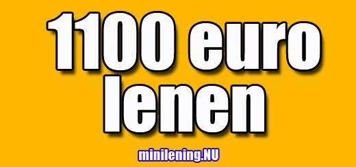 1100 euro lenen
