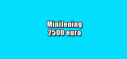minilening 2500 euro